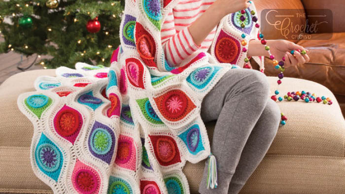 Crochet Retro Ornament Afghan Pattern