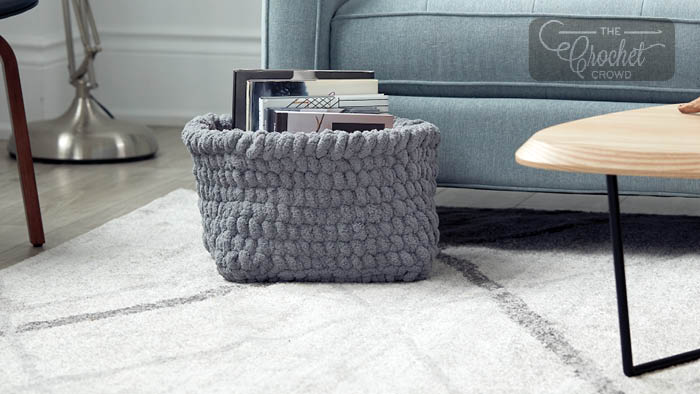 Square Crochet Basket Pattern
