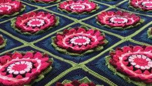 Crochet Water Lilies in August Afghan