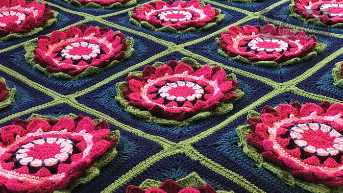 Crochet Water Lily Afghan Pattern