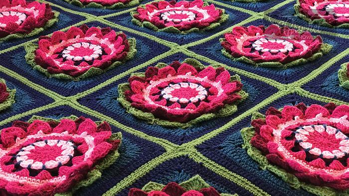 Crochet Water Lily Afghan Pattern