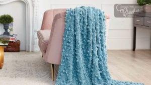 Zigzag Crochet Bobble Blanket