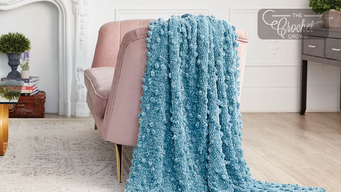 Zigzag Crochet Bobble Blanket Pattern
