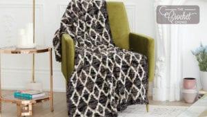 Velvet Filigree Crochet Blanket