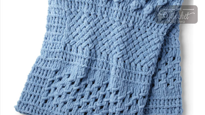 Finger Knitting Multi Texture Blanket