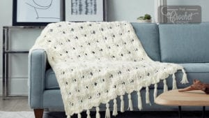 Knit Criss Cross Blanket 2