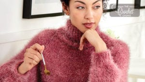 Knit Funnel Neck Pullover