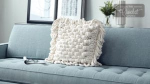 Loopy Pillow to Knit