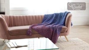 Knit Seed Stitch Blanket