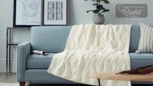 Twisted Stitch Knit Blanket