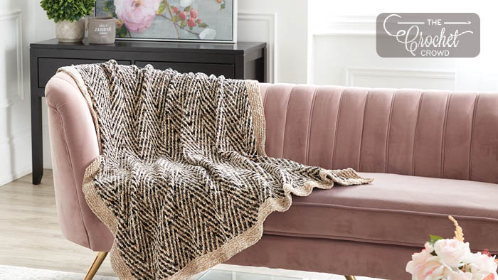 Two Tone Knit Blanket Pattern