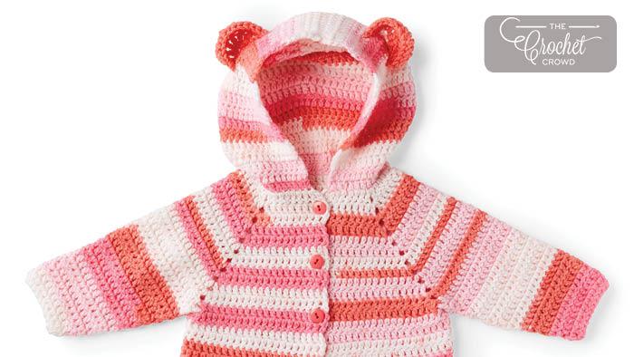 Charity Crochet Baby Bear Hoodie Pattern