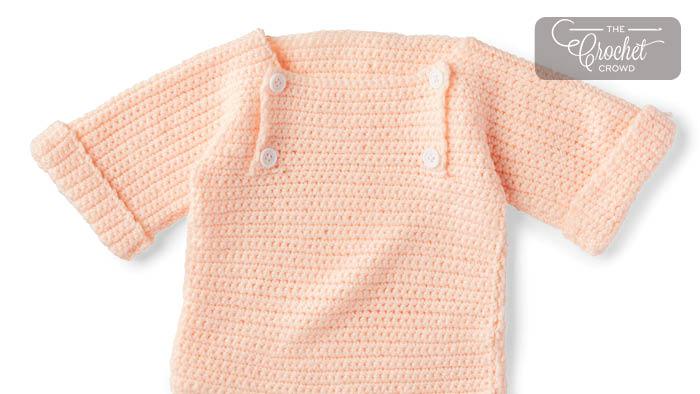 Charity Crochet Baby Pullover Pattern