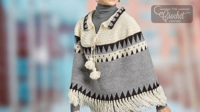Crochet Canyon Ridge Fringe Poncho Pattern