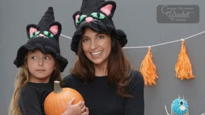 Crochet Cat Witchy Hat