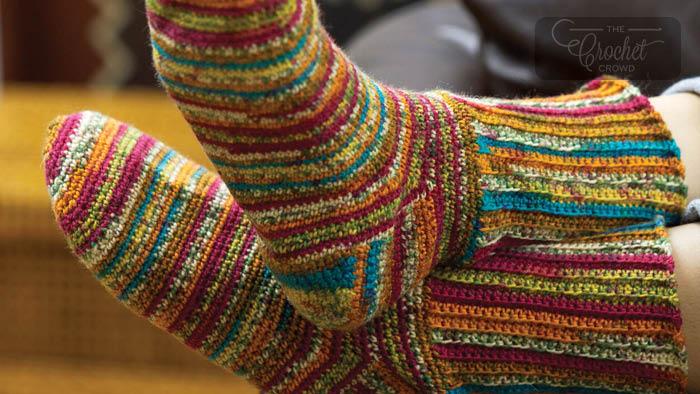 Crochet Colorful Socks