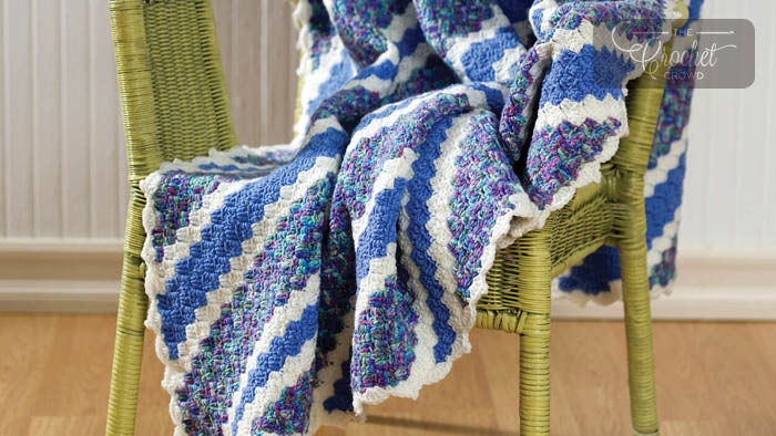Blue on Blue Afghan Country at Heart crochet pattern