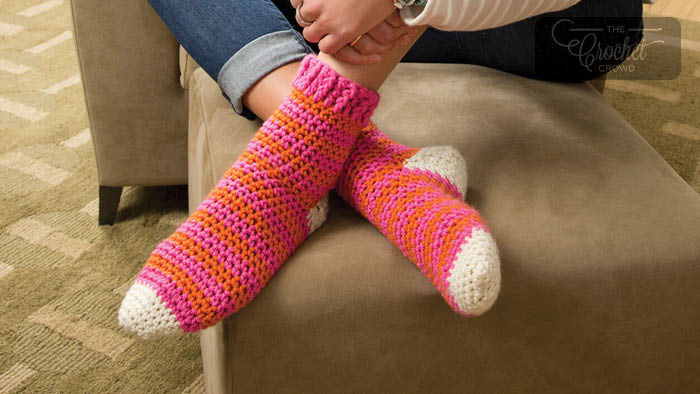 Crochet Cozy At Home Socks Pattern