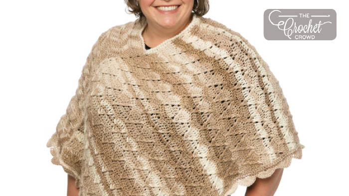 Marly's Perfect Crew Neck Crochet Poncho Pattern