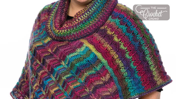 Crochet Dramatic Cowl Poncho Pattern