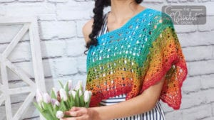 Crochet Fire and Ice Poncho