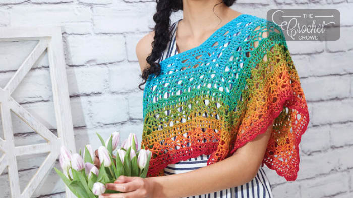 Crochet Fire And Ice Poncho Pattern