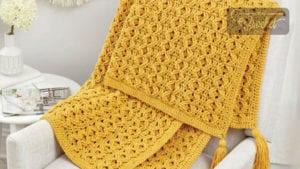 Crochet Golden Waves Throw
