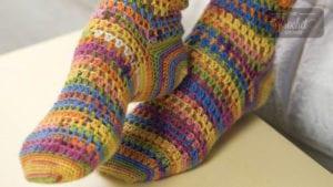 Crochet Heart and Sole Socks