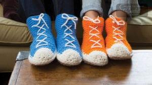 Crochet High Top Slipper Socks
