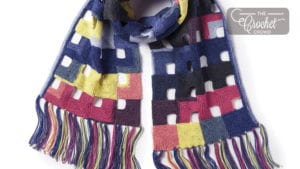 Crochet Hollow Miters Wrap