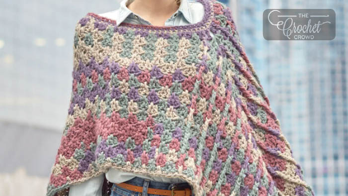 Crochet Mountain Breeze Poncho Pattern