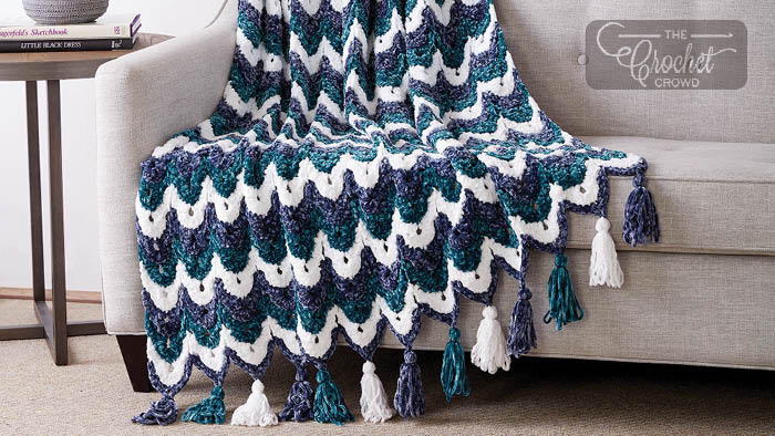 Crochet Ogee Afghan + Tutorial | The Crochet Crowd