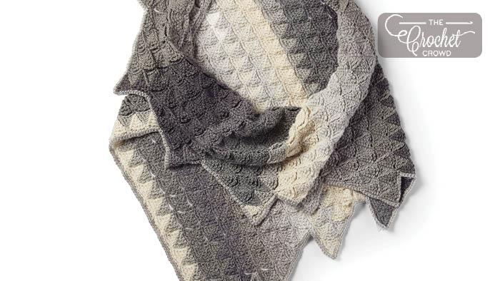 Crochet Sawtooth Shawl Pattern