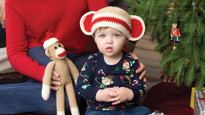 Crochet Sock Monkey And Baby Hat Pattern