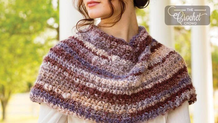 Crochet Spiced Up Shoulder Cozy Pattern