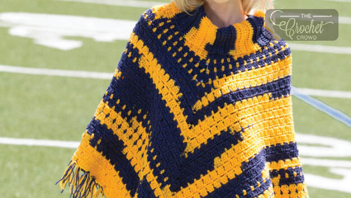 Crochet Sporty Poncho Pattern