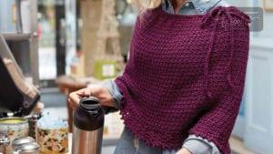 Crochet Tunisian Lace Poncho