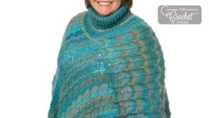 Crochet Turtle Neck Poncho