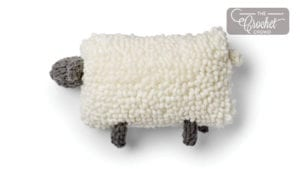 EZ Wool Knit Sheep Pillow