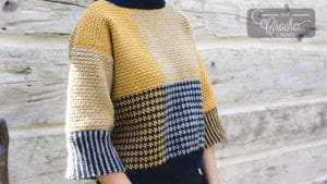 Blocked and Cropped Pullover