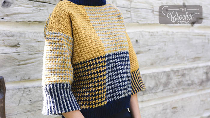 Crochet Blocked & Cropped Pullover Pattern