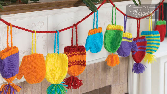 Knit Brights Hats & Mitts Garland Pattern