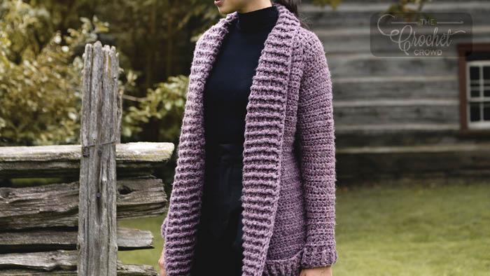 Crochet Cozy Collar Cardigan Pattern