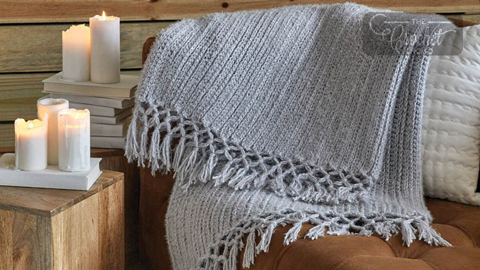 Cozy Time Fringe Throw Pattern