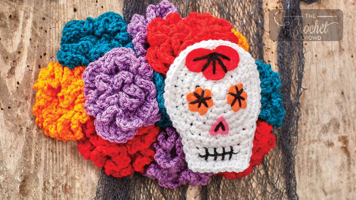 Crochet Sugar Skull Accessory Adult Head Piece
