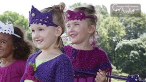 Crochet Tiara and Wand