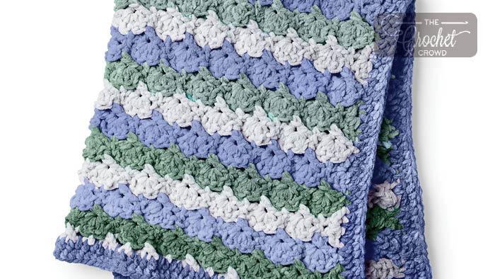 Crochet Tippy Toes Baby Blanket Pattern