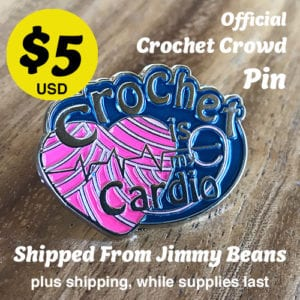 Crochet is My Cardio Pin