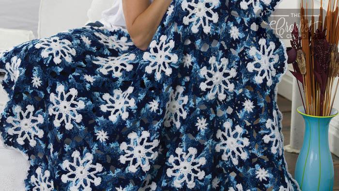 Crochet Christmas Dusty Snowflake Afghan Pattern