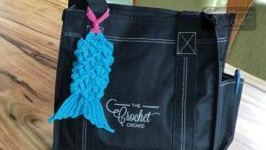 Crochet Mermaid Bag Tag